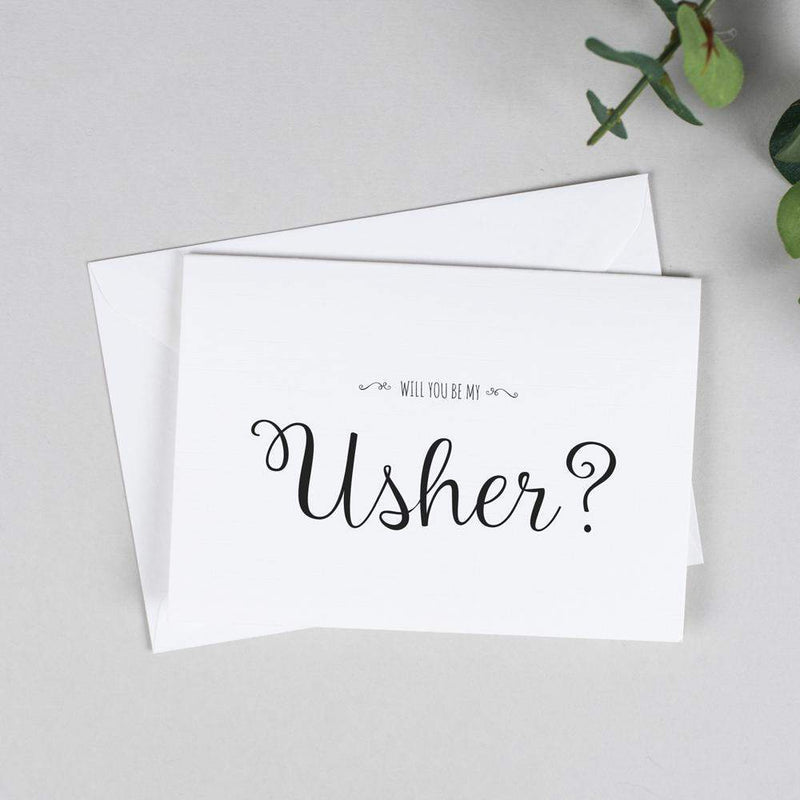 Will you be my Usher? Card Rustic