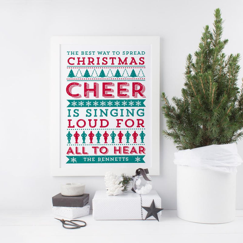 ELF 'The best way to spread Christmas Cheer!' Personalised Print