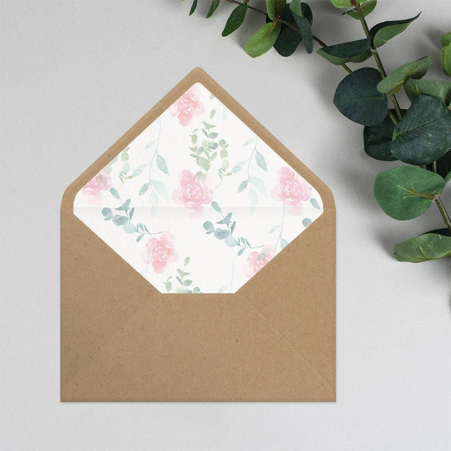 Envelope Liner - Rose