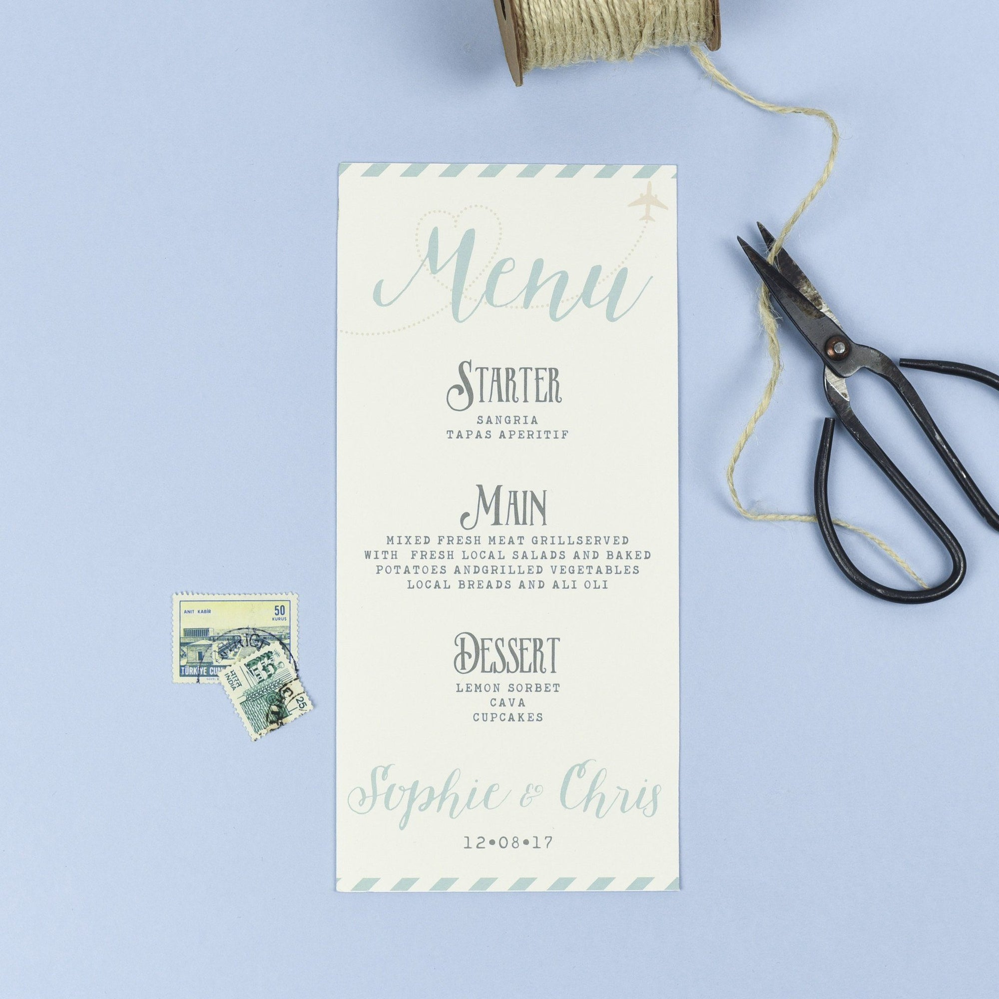 Menu - Athena - Vintage Destination Map
