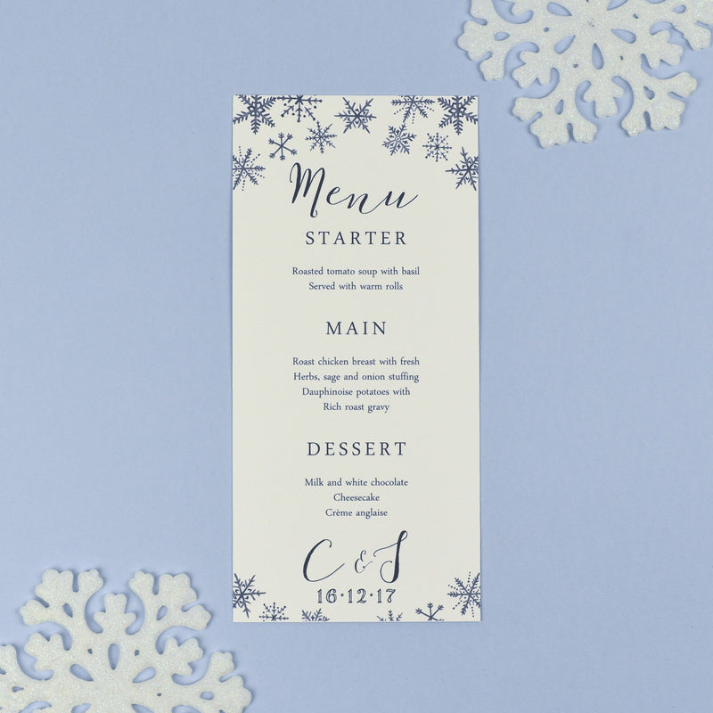 Menu - Eve - Watercolour Christmas Winter