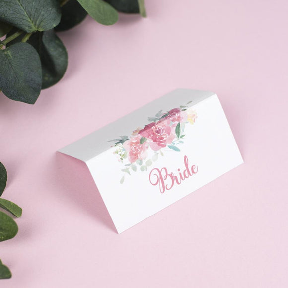 Place Cards - Place Card - Blossom - Watercolour Wedding Flowers