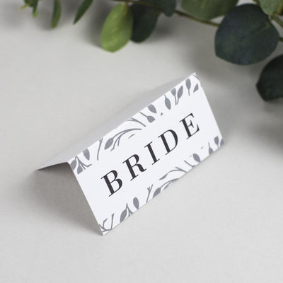 Place Card - Clare - Vine Pattern