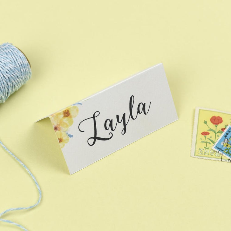 Place Cards - Place Card - Layla - Spring Flowers