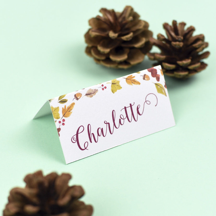 Place Card - Octavia - Autumnal Wedding