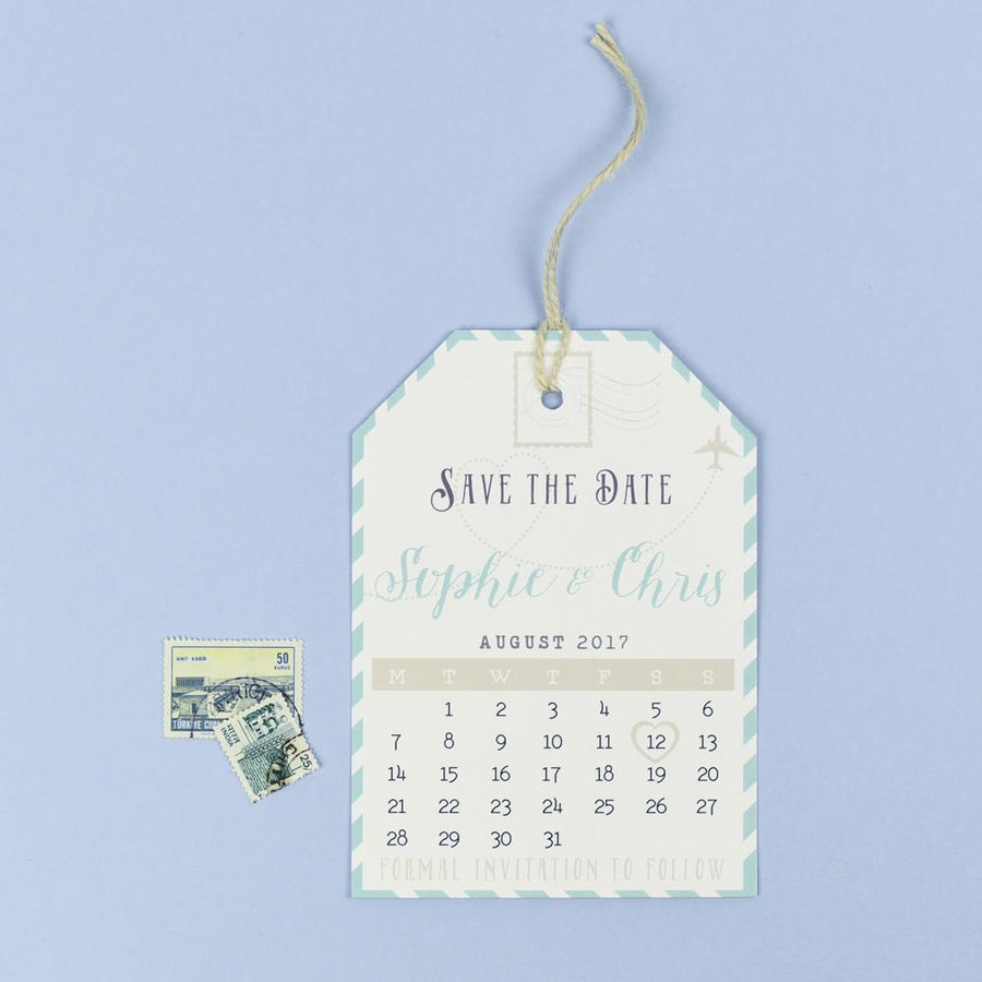 Save the Date - Athena Vintage Map Destination