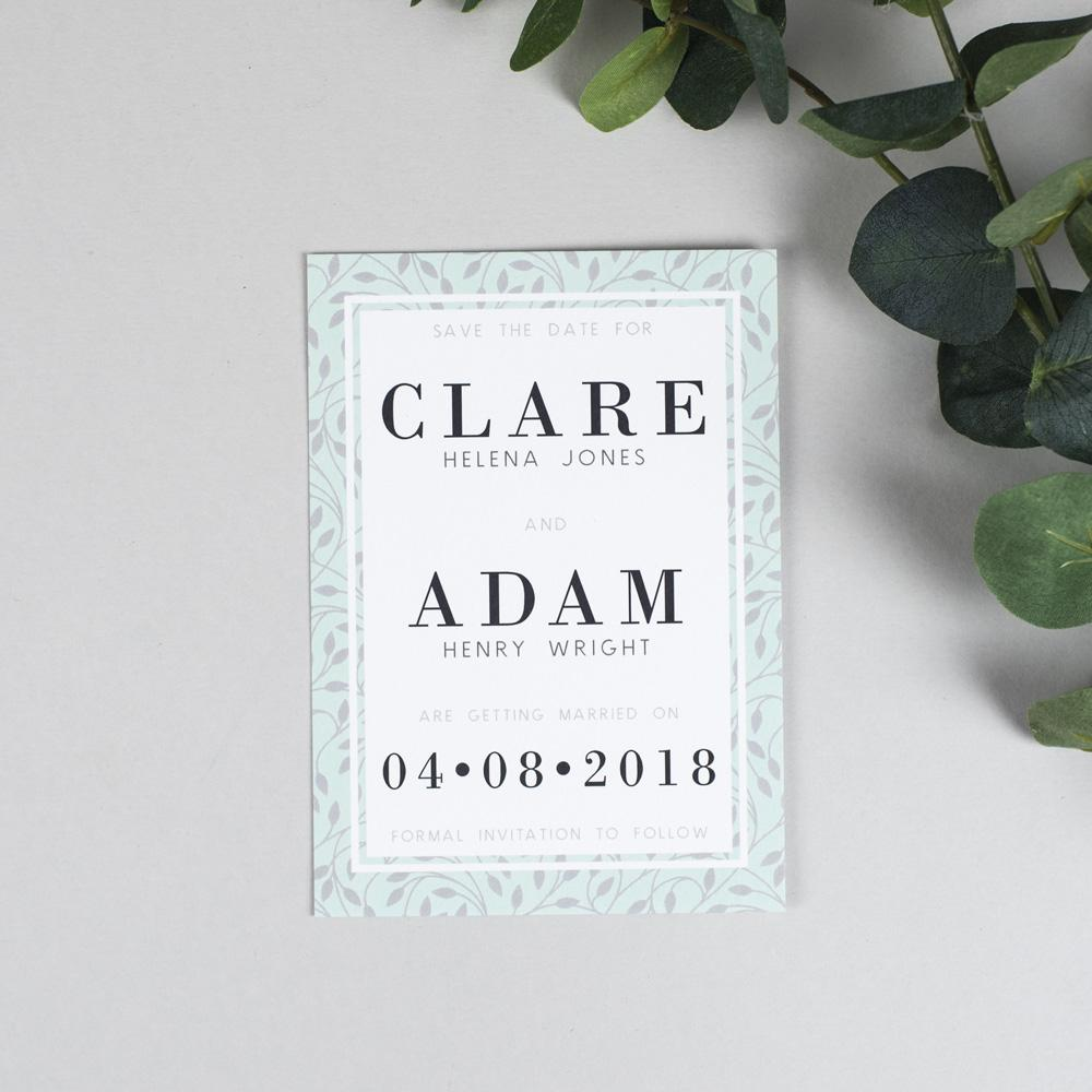 Save the Date - Clare Vine Pattern