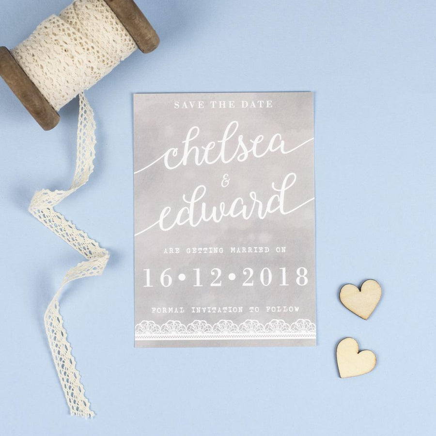 Save the Date - Molly Watercolour Lace