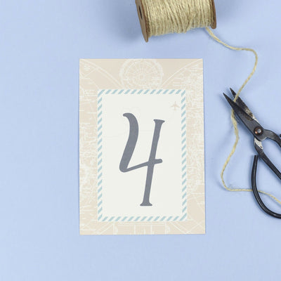 Table Names or Numbers - Athena - Vintage Map Destination