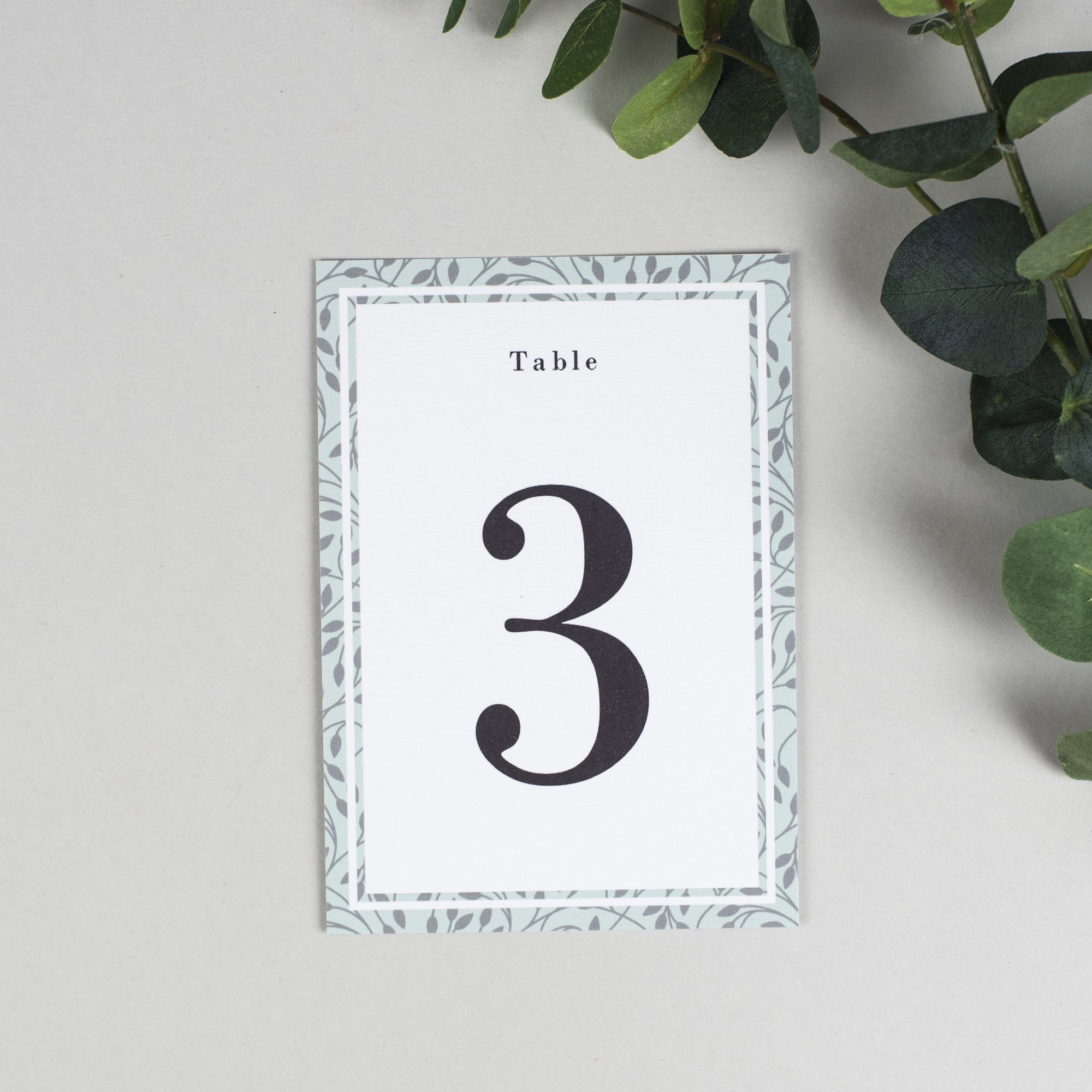 Table Names or Numbers - Clare - Vine