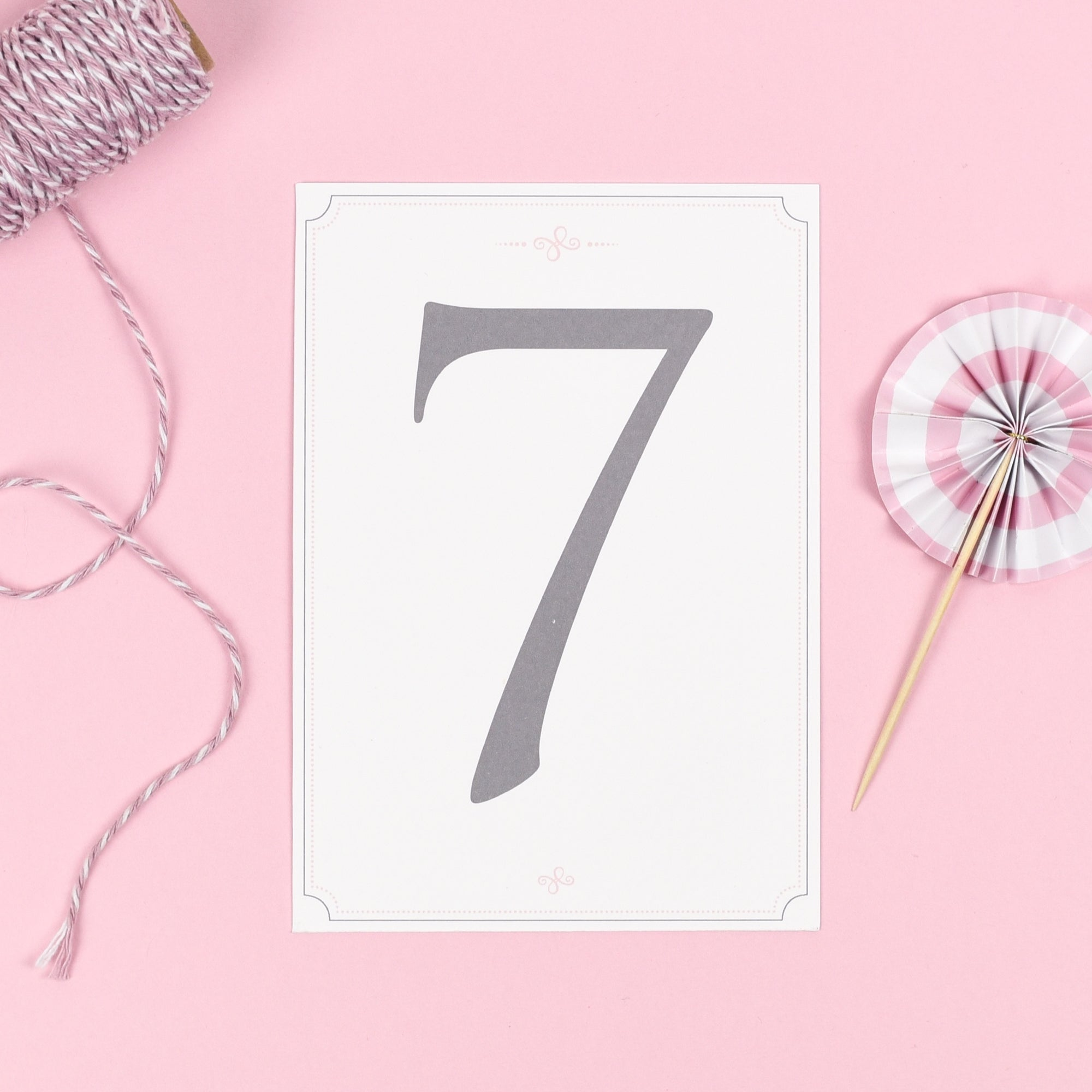 Table Names or Numbers - Erin - Delicate Frame