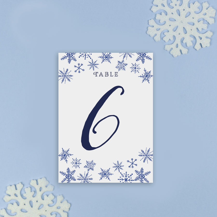 Table Names or Numbers - Eve - Winter Watercolour Christmas