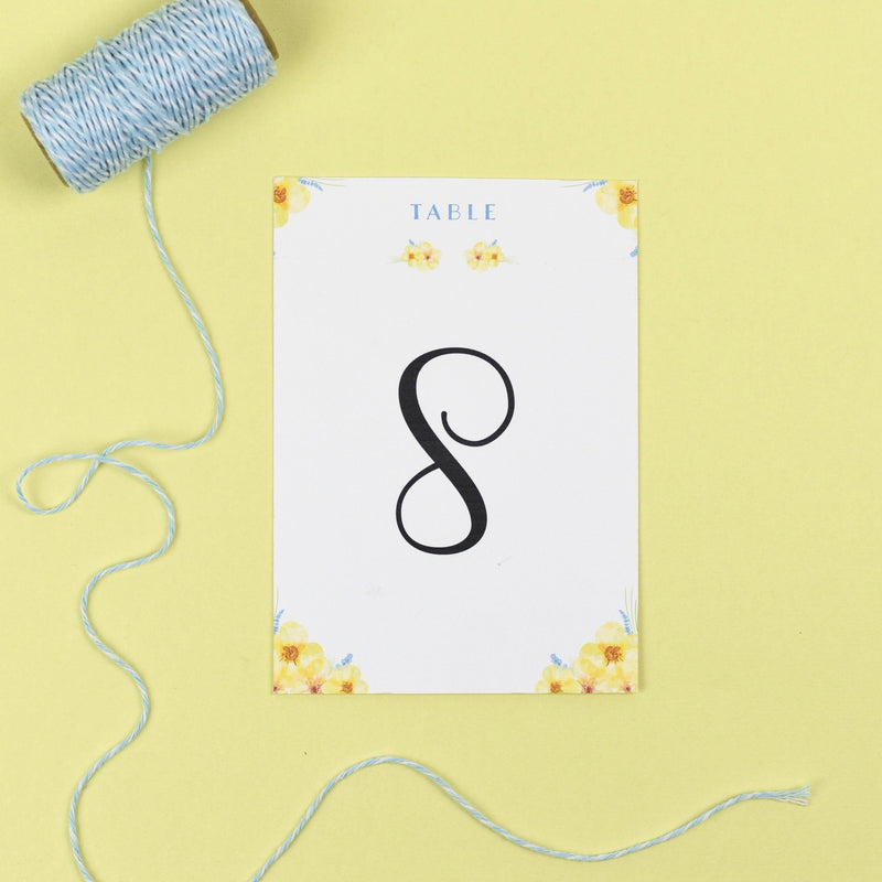 Table Names or Numbers - Layla - Spring Flowers