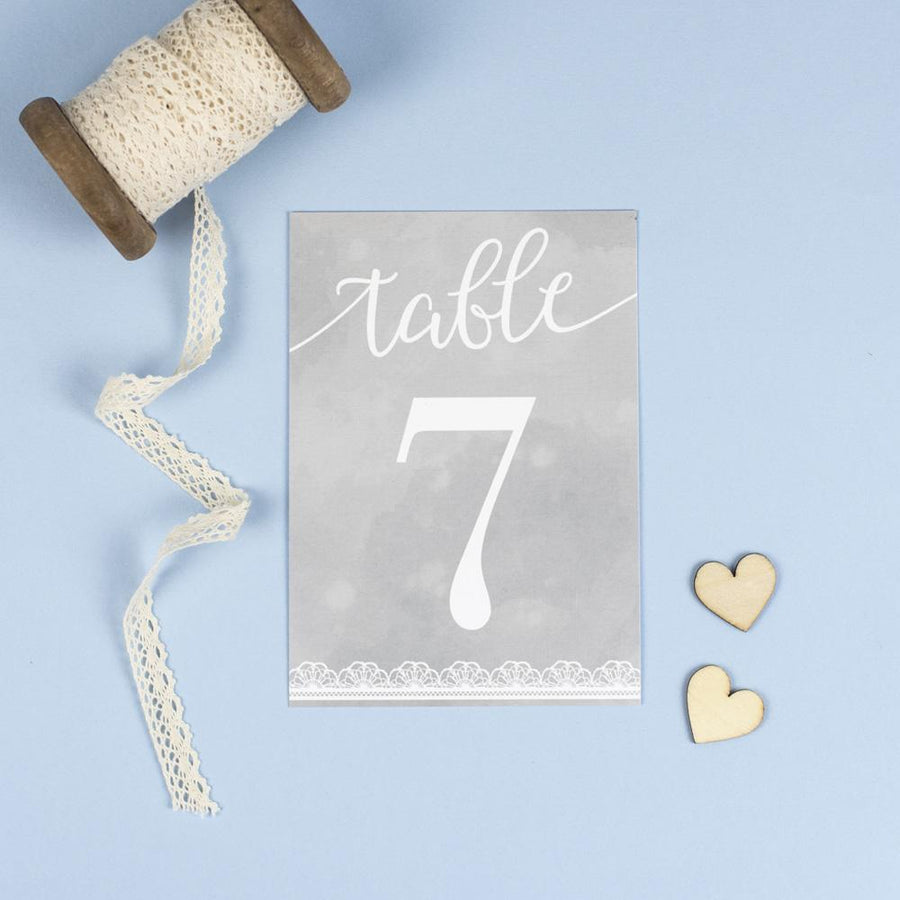Table Names or Numbers - Molly - Watercolour Lace