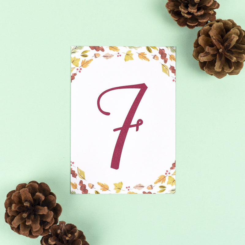 Table Names or Numbers - Octavia - Autumnal Wedding