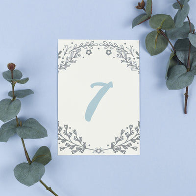 Table Names or Numbers - Willow - Rustic Wreath
