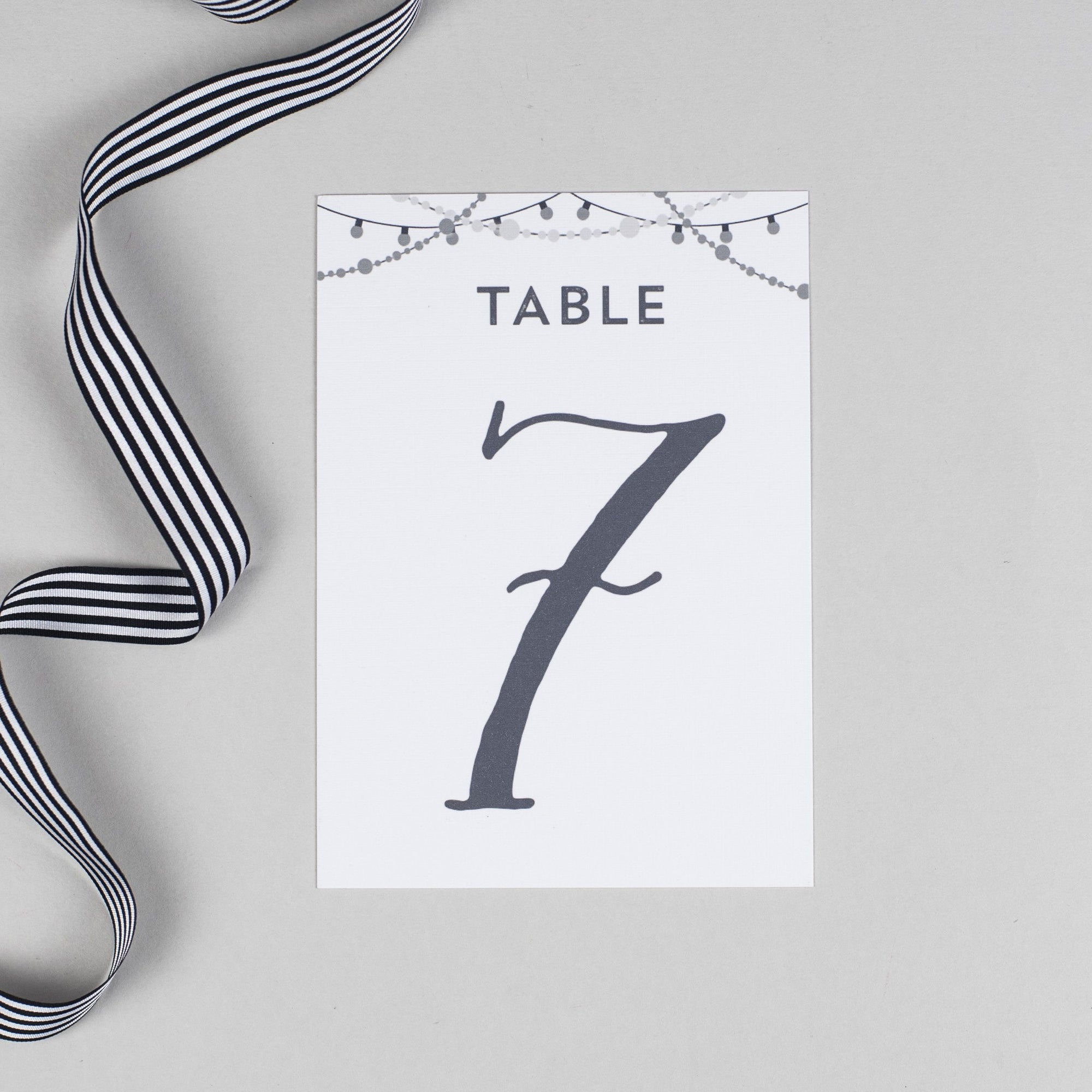 Table Number - Lizzie - Chalkboard Fairy Lights