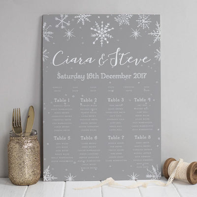 Table Plan - Eve Christmas Snowflakes
