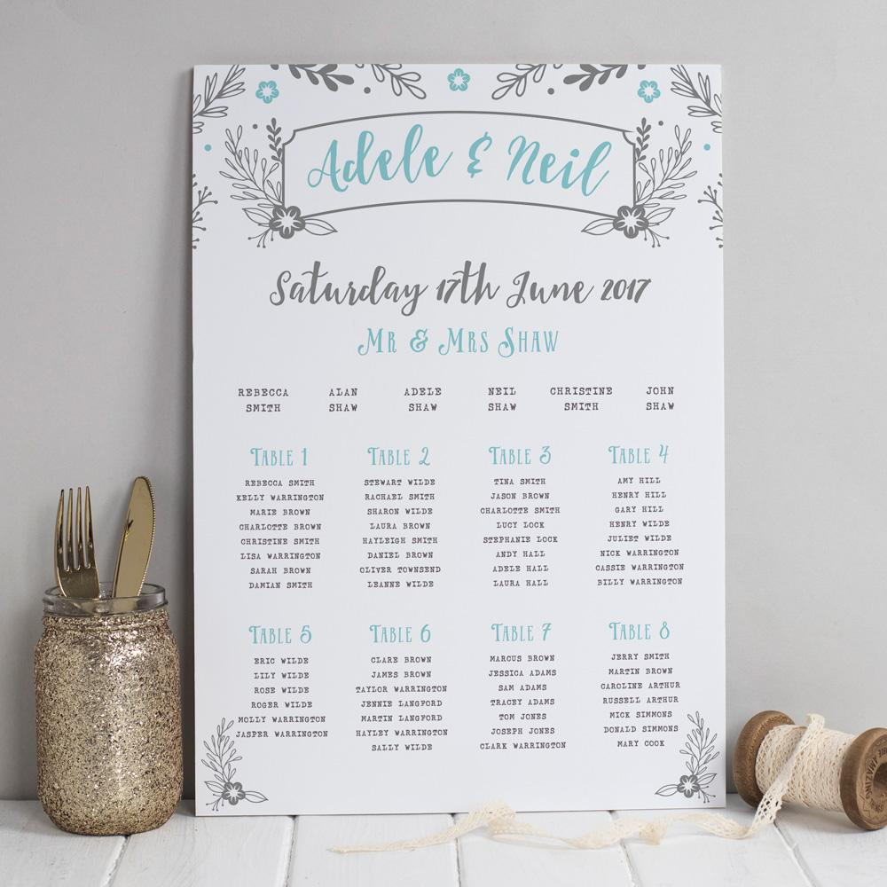 Table Plan - Table Plan - Willow Rustic Wreath