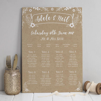 Table Plan - Willow Rustic Wreath