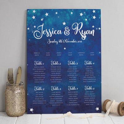 Table Plan -  Yvaine Starry Night Sky