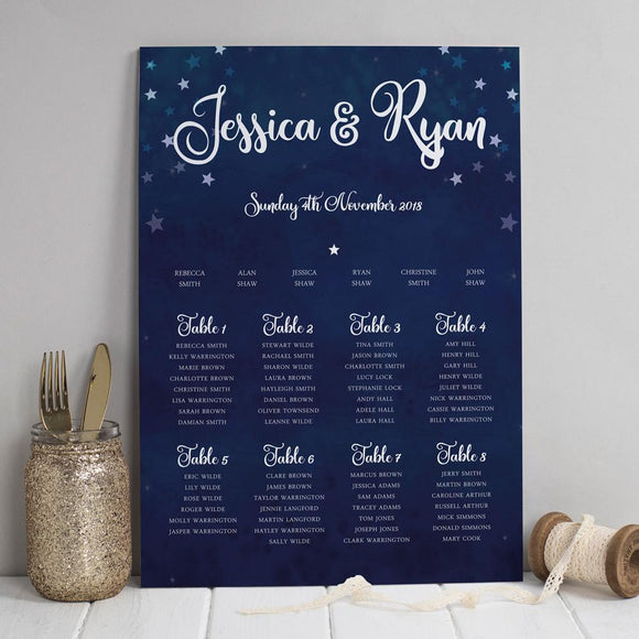 Table Plan - Table Plan -  Yvaine Starry Night Sky
