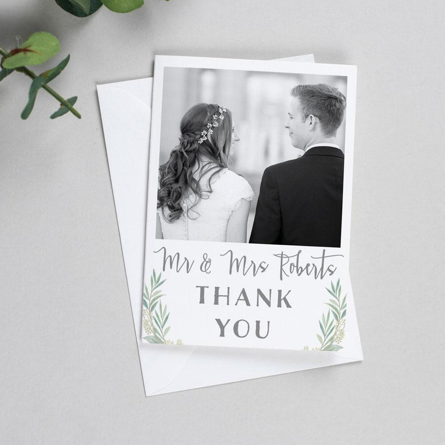 Photo Thank You Cards - Aisling - Eucalyptus Wreath