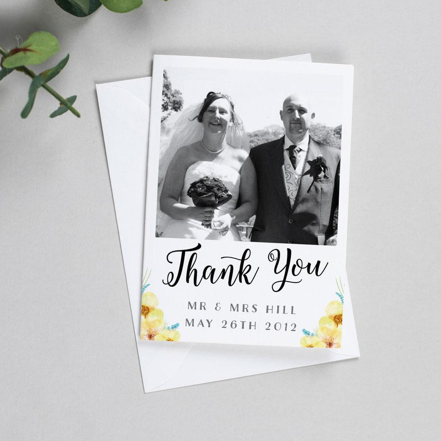 Photo Thank You Cards - Layla - Spring Flowers