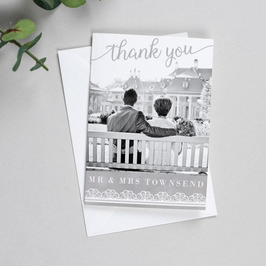 Photo Thank You Cards - Molly - Watercolour Lace