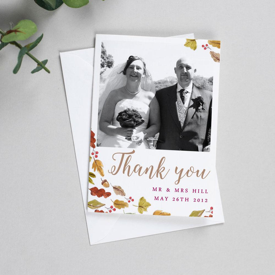 Photo Thank You Cards - Octavia - Autumnal Wedding