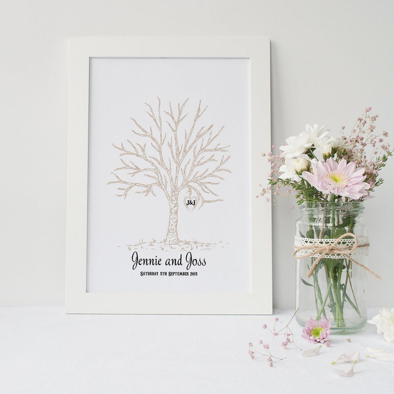 Wedding Finger Print A3 - Guest Book