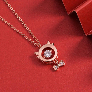2021 Chinese New Year OX Rose Gold Diamond Pendant Necklace - FengshuiGallary