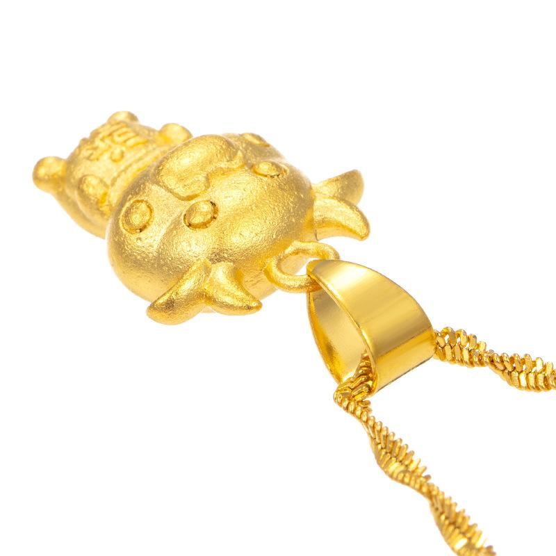 2021 Chinese New Year Zodiac OX 24k Gold Pendant Necklace - FengshuiGallary