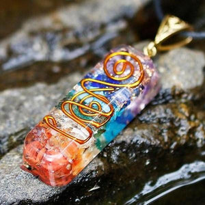 7 Chakra Orgone Energy Healing EMF Protection Pendant Necklace - FengshuiGallary
