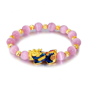 Color Changing Pixiu Cat Eye Lucky Bracelet - FengshuiGallary