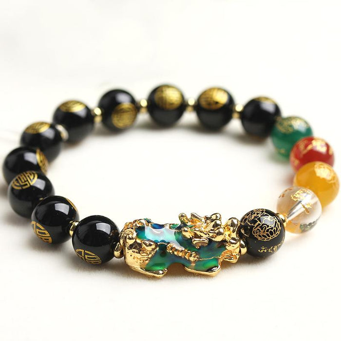 Color Changing Pixiu God Of Wealth Bracelet - FengshuiGallary