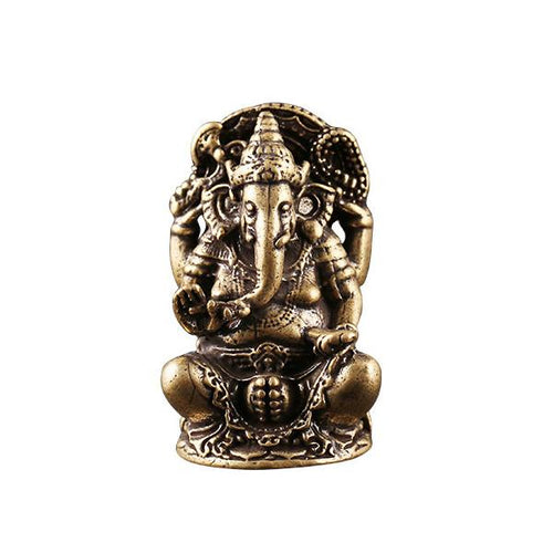 Elephant Ganesha Wealth Brass Statue - FengshuiGallary