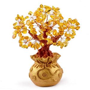 Feng Shui Citrine Money Tree Crystal Wealth Ornaments - FengshuiGallary