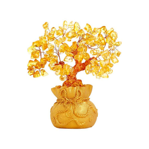 Feng Shui Citrine Money Tree Wealth Ornaments - FengshuiGallary