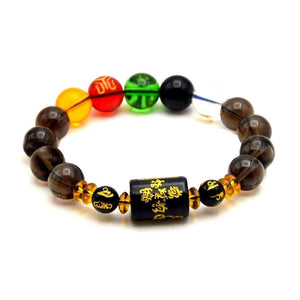 Feng Shui Five Elements Wealth Crystal Bracelet - FengshuiGallary