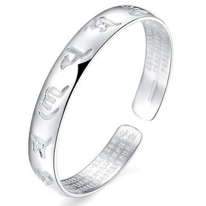 Feng Shui Six Ture Words Heart Sutra Lucky Bangle - FengshuiGallary