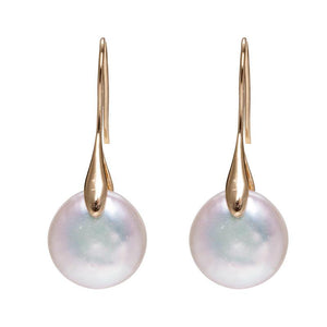 Fortune & Luck Pearl Drop Gold Earring - FengshuiGallary