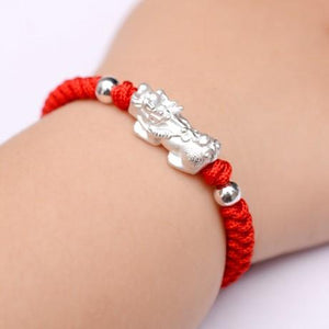 Gold Pixiu Lucky Rope Baby Bracelet - FengshuiGallary