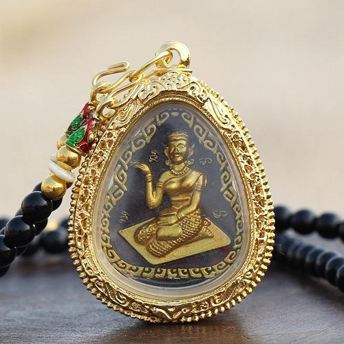 Gold Thai God Of Wealth Buddha Amulet Pendent - FengshuiGallary