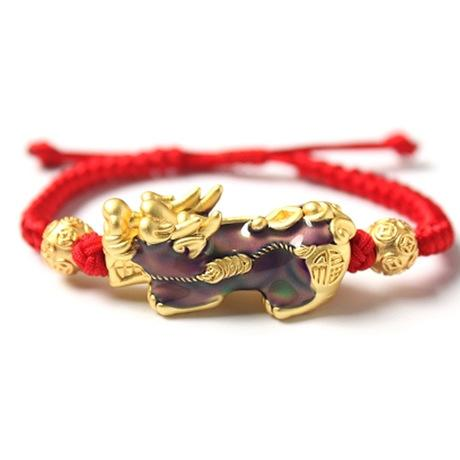 Hand Knitted Lucky Red Rope Color Changing Pixiu Bracelet - FengshuiGallary