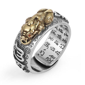 Lucky Feng Shui Pixiu Six Ture Words Mantra Ring(Adjustable) - FengshuiGallary