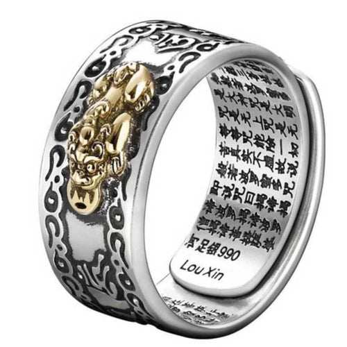 Lucky Feng Shui Pixiu Wealth & Protection Ring(Adjustable) - FengshuiGallary