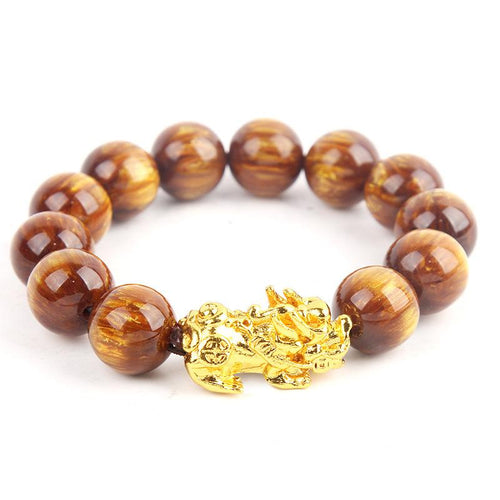 Lucky Gold Sea Willow Healing Pixiu Bracelet - FengshuiGallary