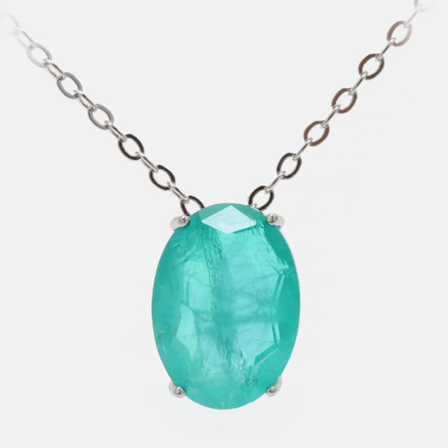 Natural Blue Zircon Crystal Healing Pendant Necklace - FengshuiGallary