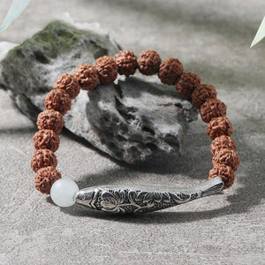 Natural Bodhi Beads Koi Fish Mantra Bracelet - FengshuiGallary